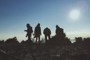 Hike in groups