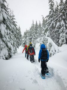 Traverse up the hill