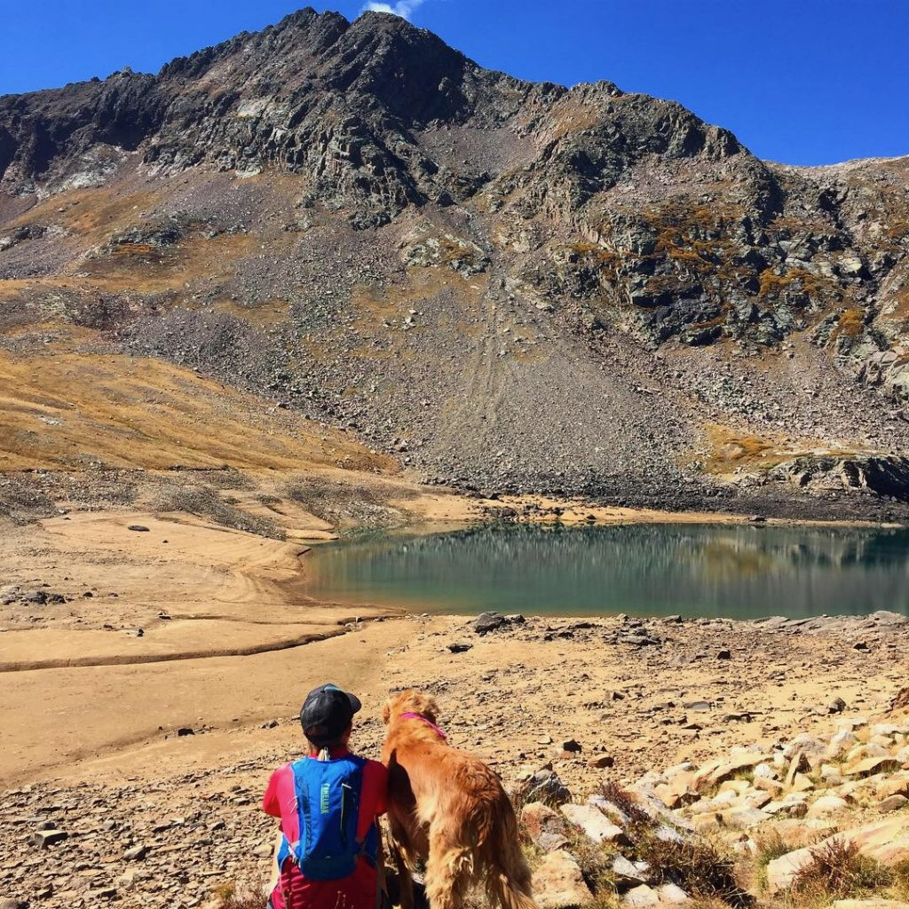 Hope Lake With Wife and Dog