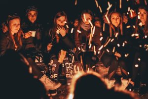 Have a bonfire with friends while you're out